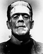 "Boris Karloff as ""Frankenstein"""