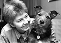 Pamela Smart and her terrier Jaytee