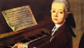 Mozart performing as a child
